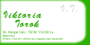 viktoria torok business card
